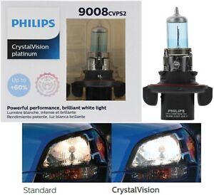 Philips Crystal Vision Platinum 9008 H13 60/55W Two Bulbs Headlight Plug Play OE
