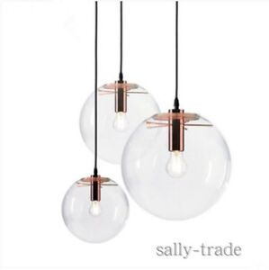 Details About Gl Ball Shade Black Rose Gold Ceiling Lamp Pendant Lights Lighting Fixtures