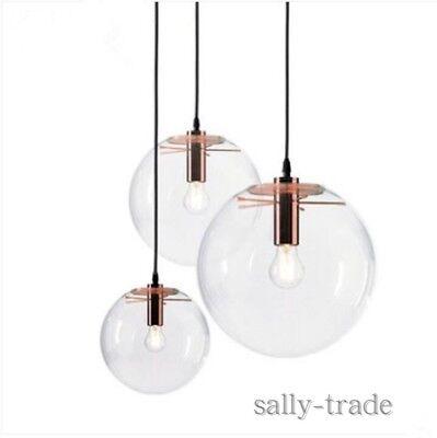 Glass Ball Shade Black Rose Gold Ceiling Lamp Pendant
