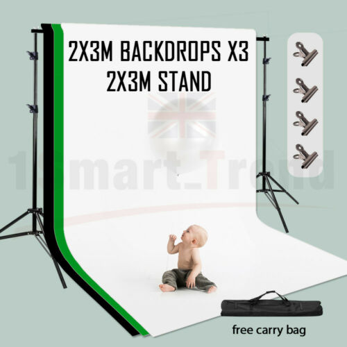 Black//White//Green//Gray Photo Backdrop Screen Background Crossbar Support Stand