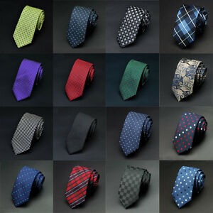 17-Color-Wholesale-Lot-Men-039-s-Classic-Tie-Silk-Necktie-Woven-Jacquard-Neck-Ties