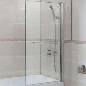 New 6mm Glass 180 Pivot Square Framed Over Bath Shower Screen Door Panel EBay