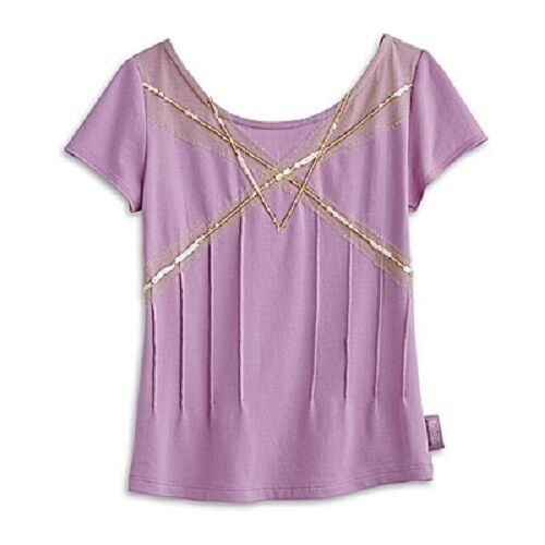 American Girl Doll Isabelle/'s Purple TEE for GIRLS GIRL TEE   top   M or L