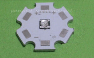 3W 365nm UV LED ultraviolet High Power bead with 20mm Star base