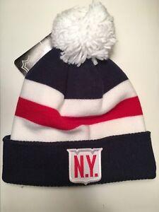 New York Rangers adidas 2018 Winter Classic Cuffed Pom Knit Beanie ... 4f25e7ff45a