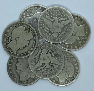 Full-Date-Barber-Half-Dollars-1892-1915-Circulated-90-Silver-Choose-How-Many