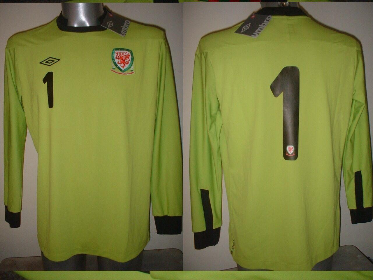 Galles portiere UMBRO M L XL BNWT Nuovo Maglia Jersey calcio in maglia top