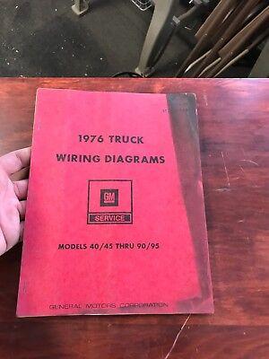 1976 Chevrolet Truck Wiring Diagrams 40-90 45-95 Series | eBay
