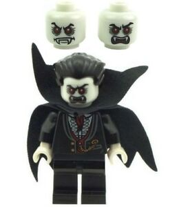 Details about LEGO Minifig Vampire Dracula With Glow In The Dark Head NEW  Ver 3 Halloween