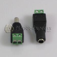 Conector Adaptador Jack DC Macho y Hembra corriente 2,1x5,5mm tira led, CCTV...