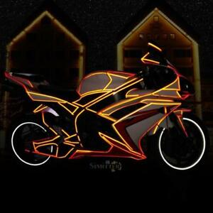 8m/26.2ft Wheel Body Reflective Decal Sticker Rim Tape for Bike Car Motorcycle