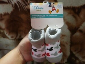 CLOSEOUT-SALE-Imported-From-USA-Mickey-Mouse-Baby-Booties-0-12M-D-3