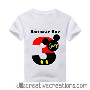 Image Is Loading Mickey Mouse T Shirt Birthday