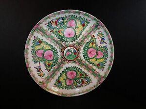 """Large Vintage Japanese Porcelain Famille Rose Medallion Charger Platter 12"""""""