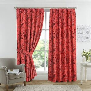 Image Is Loading Amazon Jungle Birds Fully Lined Thermal Blackout Curtains