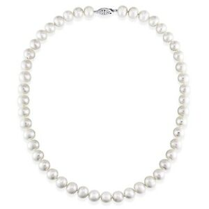 Amour White 7.5-8mm Cultured Freshwater Pearl Necklace (18-24 inch)