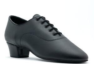 De-Mujer-Negro-Ensayo-Baile-Zapatos-De-Topline-Denise-Bajos-Todas-Las-Tallas