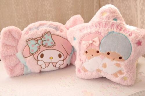 Little twin stars fuzzy pink candy plush pillow cushion warm hand cushions anime