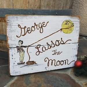 It/'s A Wonderful Life George Lassos The Moon Christmas Reclaimed wood sign