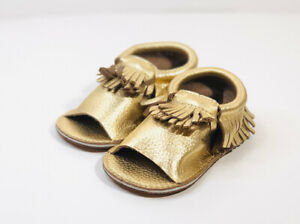 NEW First Steps Leather Moccasin Sandal