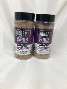 2-Ct-Weber-12-25-Oz-Dry-Rub-Sweet-Cracked-Pepper-Great-For-Smoking-amp-Barbecuing