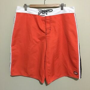 Quiksilver-with-Taping-Vintage-90-039-s-Orange-Board-Shorts-Swim-Surf-Mens-2XL-XXL