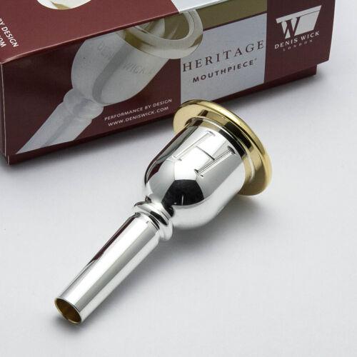 NEW! 7CS Genuine Denis Wick Heritage Trombone Mouthpiece Gold Rim