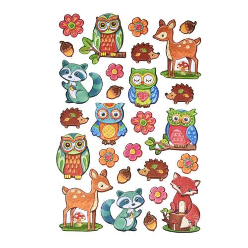27-Piece Wilderness Pals 3D Puffy Stickers