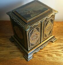 STUNNING & RARE VICTORIAN LADIES PAPIER MACHE JEWELLERY/SEWING CABINET c.1845
