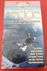 VHS-Movie-Warren-Miller-039-s-On-the-Edge-Kayaking-Bobsledding-Snowboarding