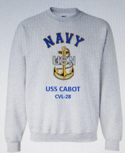 USS LEYTE  CV-32* AIRCRAFT CARRIER NAVY ANCHOR EMBLEM SWEATSHIRT