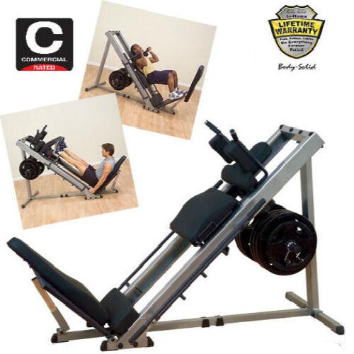 Leg Press For Sale >> New 2020 Body Solid Leg Press Hack Squat Machine Calf Bodysolid Glph1100