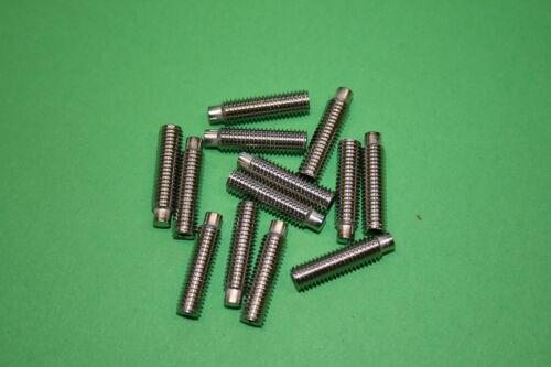 M4 4-30 mm Gewindestifte Edelstahl A2 DIN 915 Madenschrauben mit Zapfen