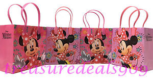 Image Is Loading Disney Minnie Mouse Favor Bags 12 Pcs Party