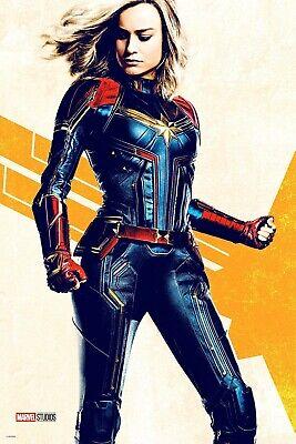 F-222 Captain Marvel 2019 Movie Brie Larson Custom Fabric Poster 32x48 24x36in