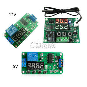 DC-5V-12V-Multifunction-Self-lock-Relay-PLC-Cycle-Timer-Module-Delay-Time-Switch