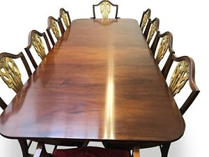 Exquisite-George-III-style-Brazilian-mahogany-dining-table-Pro-French-polished