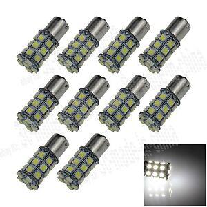 10X-White-1156-G18-Ba15s-27-5050-LED-Turn-Signal-Rear-Light-Bulb-Lamp-D007
