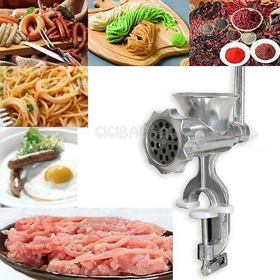 Hand Cast Iron Manual Meat Grinder Sausage Beef Mincer Table Hand Kitchen Tool #