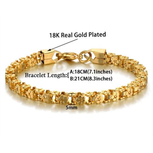 Nuevo 18k Oro Plateado Pulseras-Lujo Mujeres Pulsera de cadena de acero inoxidable de oro