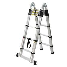 165ft Telescopic Extension Aluminum Step Ladder Folding Multi Purpose Portable