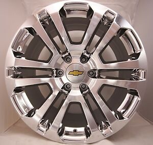 4 new 2016 chevy silverado suburban tahoe avalanche chrome 20 quot wheels rims ck158 ebay