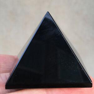 40mm Natural beautiful Obsidian Pyramid polished Reiki Stone Healing