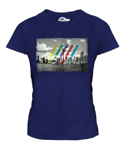 TORONTO SKYLINE LADIES T-SHIRT TEE TOP GIFT CANADA ARCHITECTURE