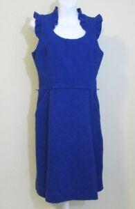 ELLE-Ruffle-Sleeveless-Dress-Size-6-Womens-Blue-Knee-length-empire-waist-NWT-NEW