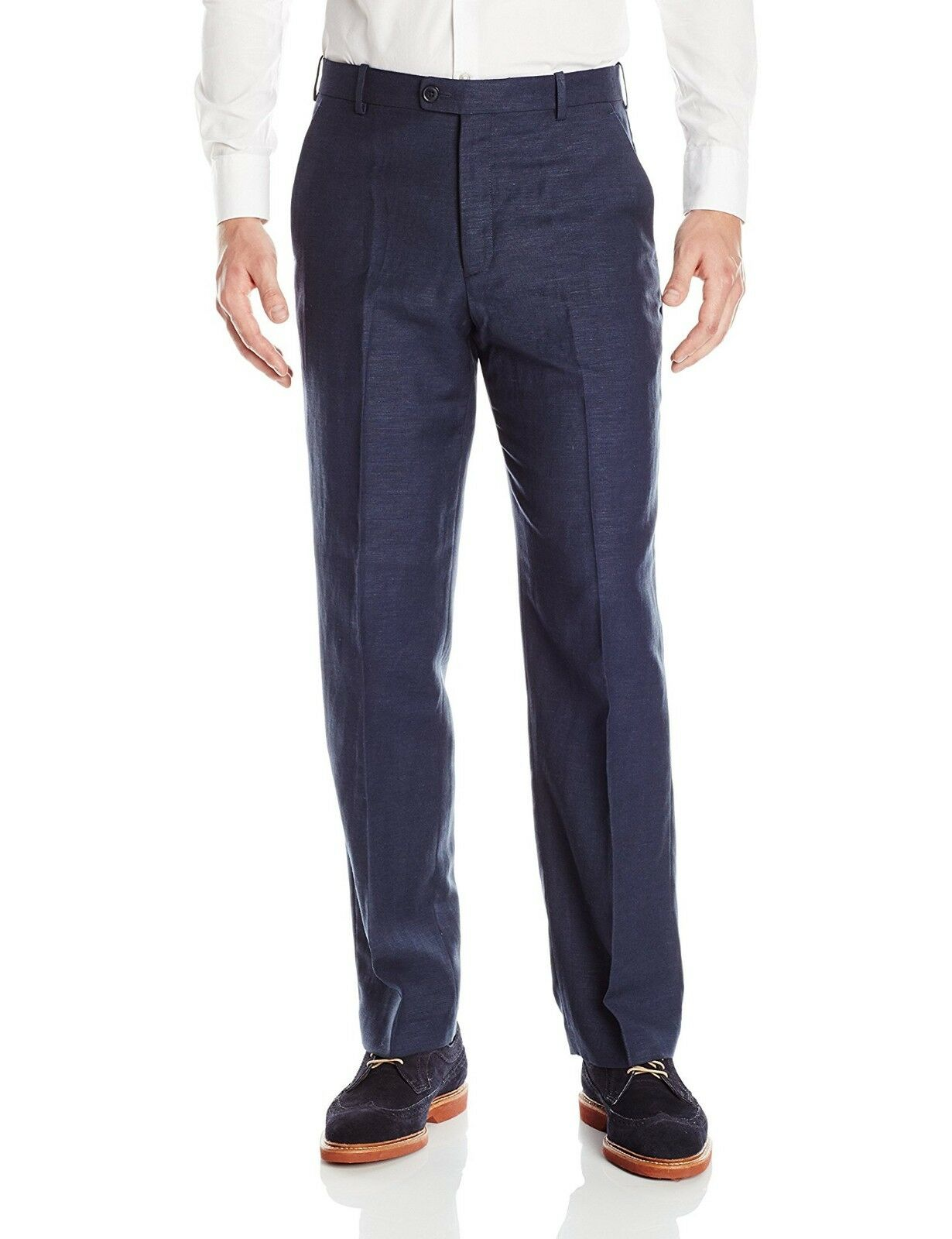 PERRY ELLIS PORTFOLIO men blueE FIT FLAT FRONT SUIT DRESS PANTS 30 W 30 L