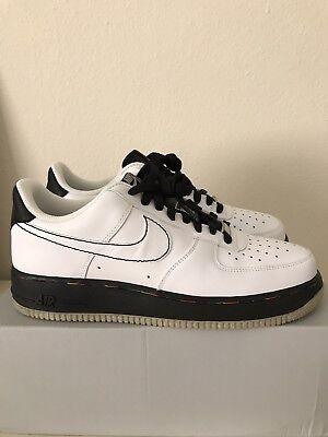 Nike Air Force 1 '07 Size 9.5 315122112 Deadstock Whiteblack | eBay