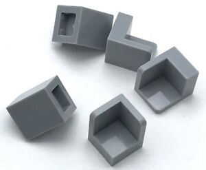 Lego-5-New-Light-Bluish-Gray-Panel-1-x-1-x-1-Corner-Pieces