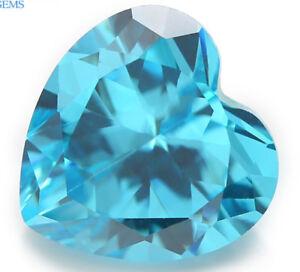 12x12MM-7-89CT-AAAAA-Natural-Heart-Sea-Blue-Zircon-Diamonds-Cut-VVS-Loose-Gems