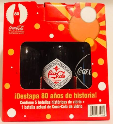 Rare Limited Edition Vintage Mexico Coke Coca Cola GlassReproduc 6 pack Bottle s